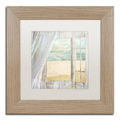"Trademark Art 'Summer Me I' Framed Painting Print Size: 11"" H x 11"" W x 0.5"" D, Mat Color: White"