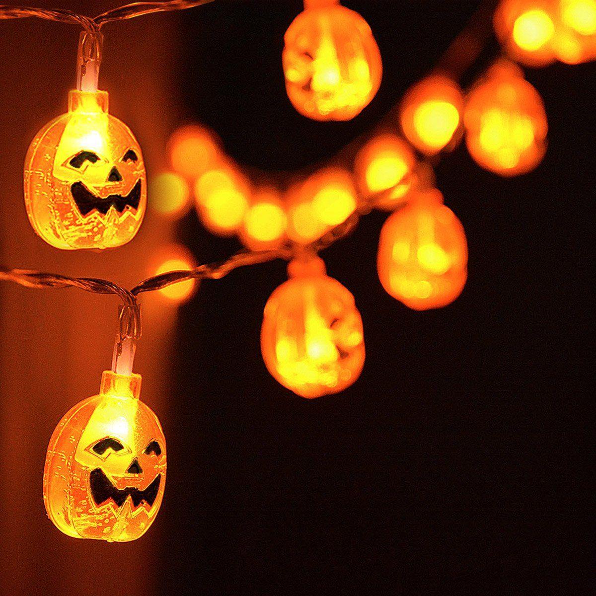 Diy Halloween Decorations Kingleder Halloween Pumpkin Lights