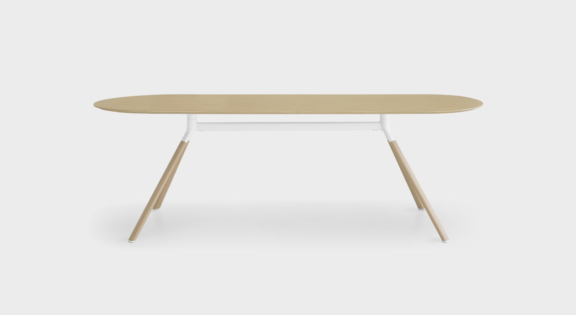 Fork P128 Minimalist Dining Room Table With Wood Or Fenix Top