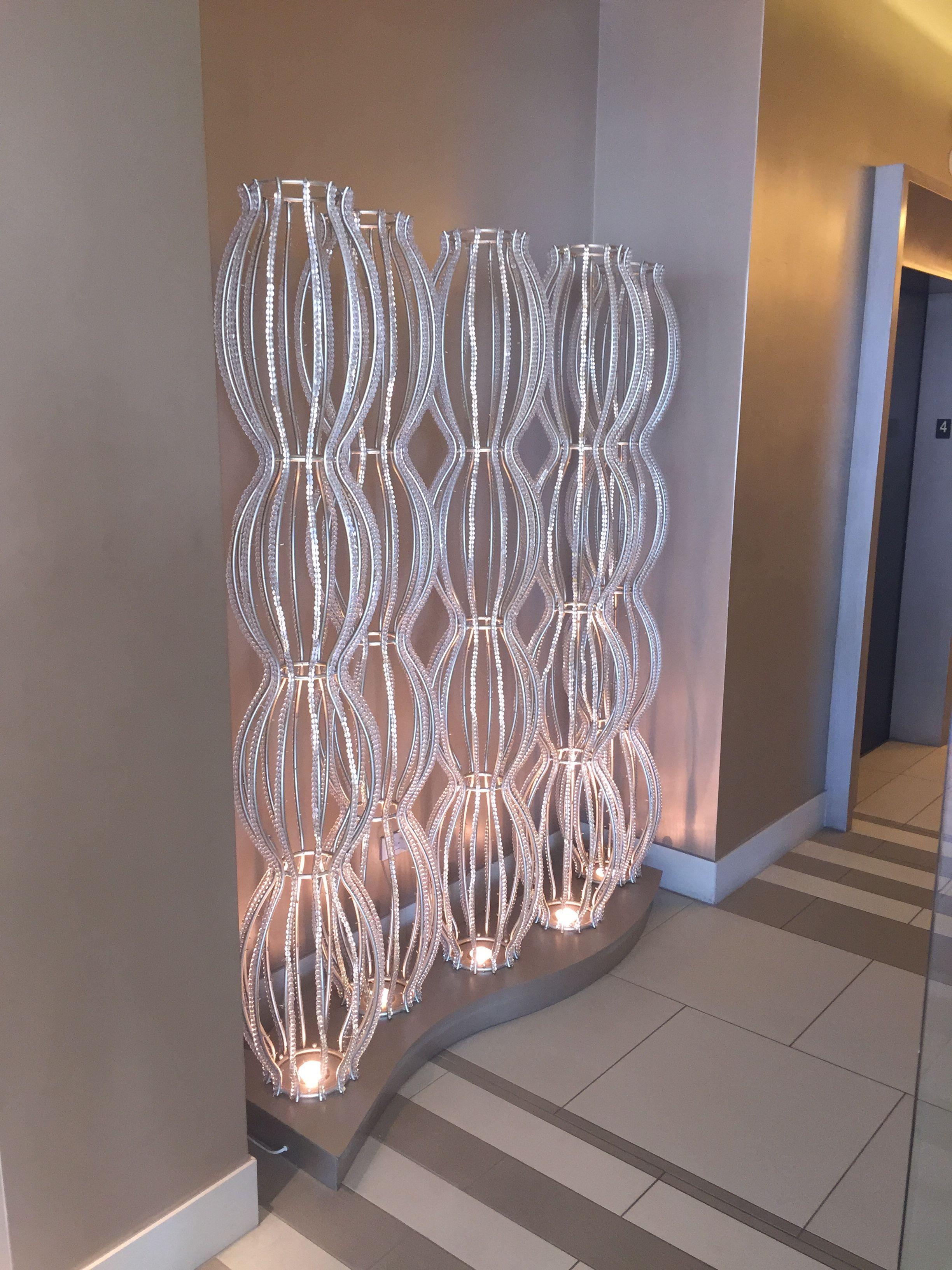 Custom Light Installation - Beaded Crystal - Floor Lamp -