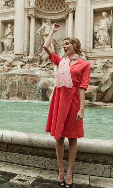 Veni Vidi Vici: Coral Wrap Dress