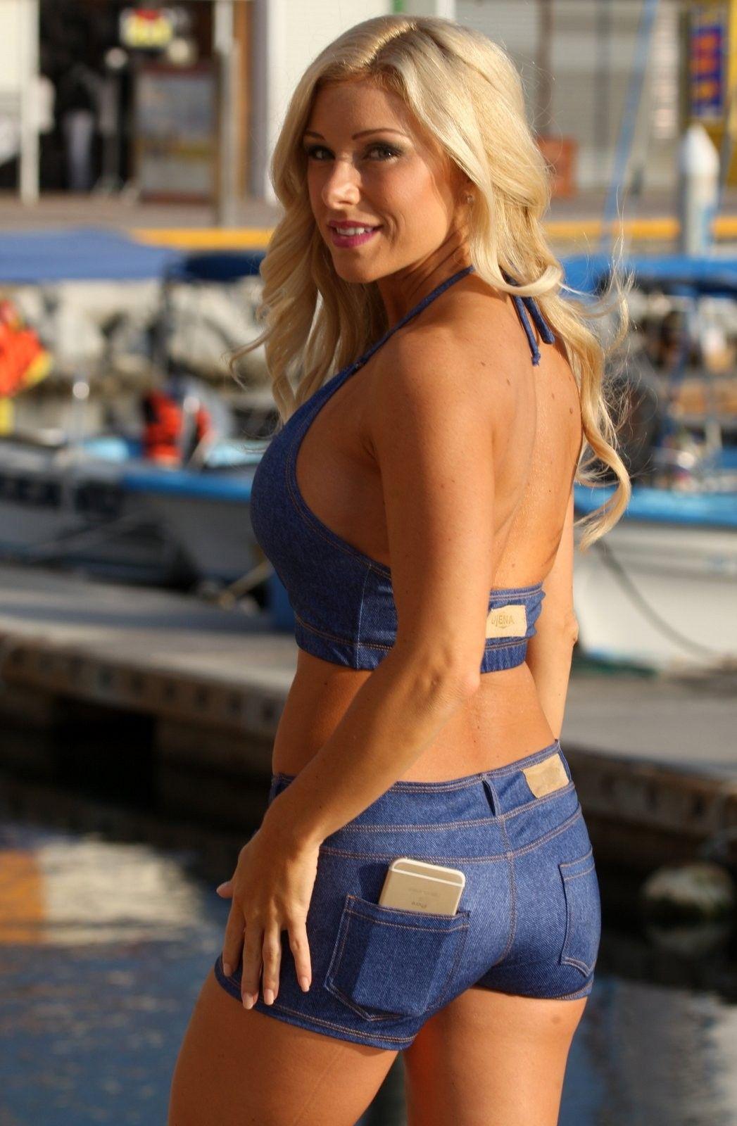 032d0447523b Ujena Baby Blue Jean Short | Products I Love | Boyshort bikini ...