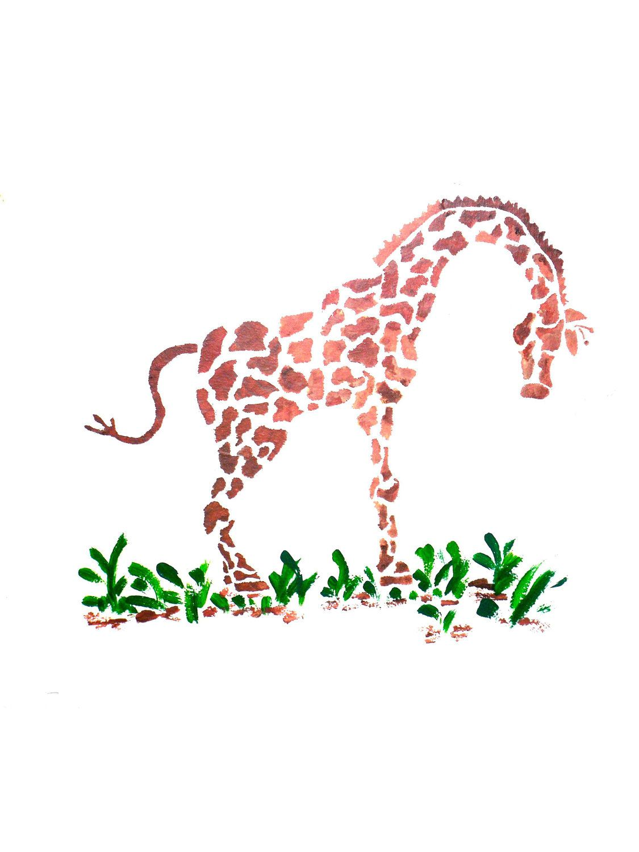 Wall Stencil Giraffe Wall Art Kids Rooms Decorate Bedrooms