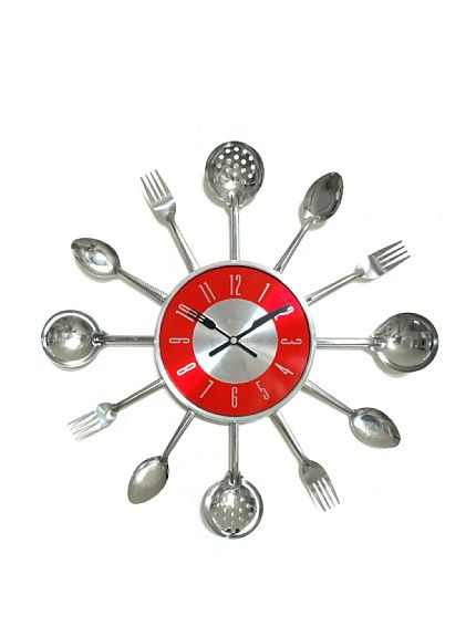 Verichron Utensil Clock, Silver at MYHABIT | odd clocks | Pinterest ...
