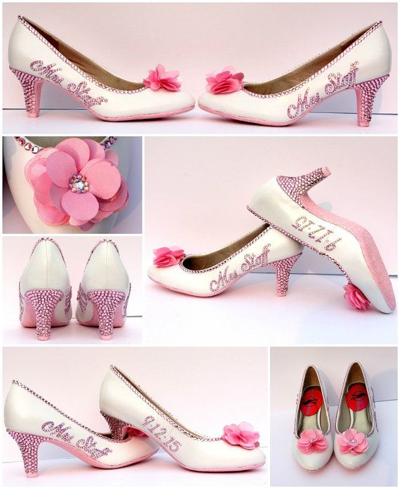 Superior Light Pink Bridal Shoes Brides Name U0026 Wedding By WickedAddiction