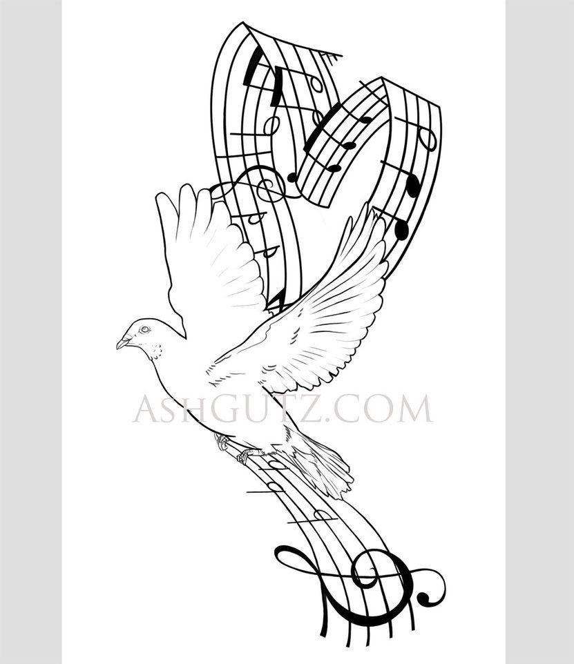 Dove Tattoo Stencil Dove.music tatt...