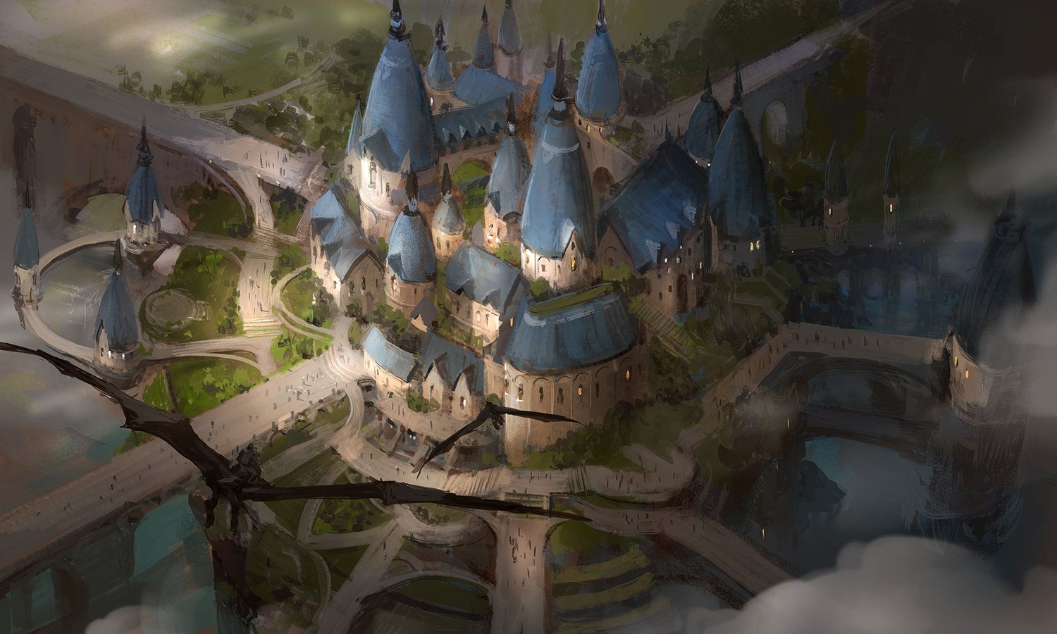 Castle in the concept art and castles on pinterest