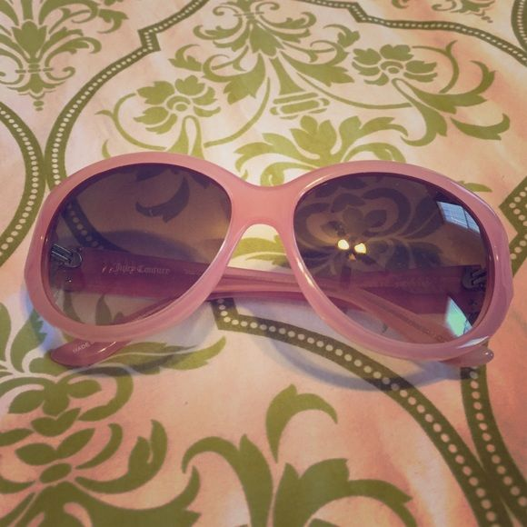 Juicy Couture sunglasses Pink Authentic Juicy Couture sunglasses. No case. In excellent condition!  Juicy Couture Accessories Sunglasses
