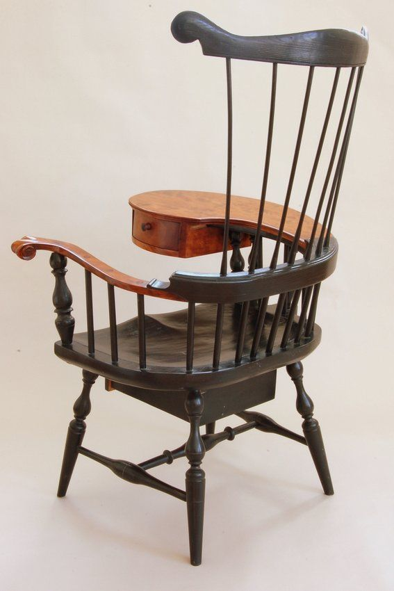 wood writing chairs with tablet | Custom Made Comb-Back Windsor Writing Arm Chair (Rt Handed) & wood writing chairs with tablet | Custom Made Comb-Back Windsor ...
