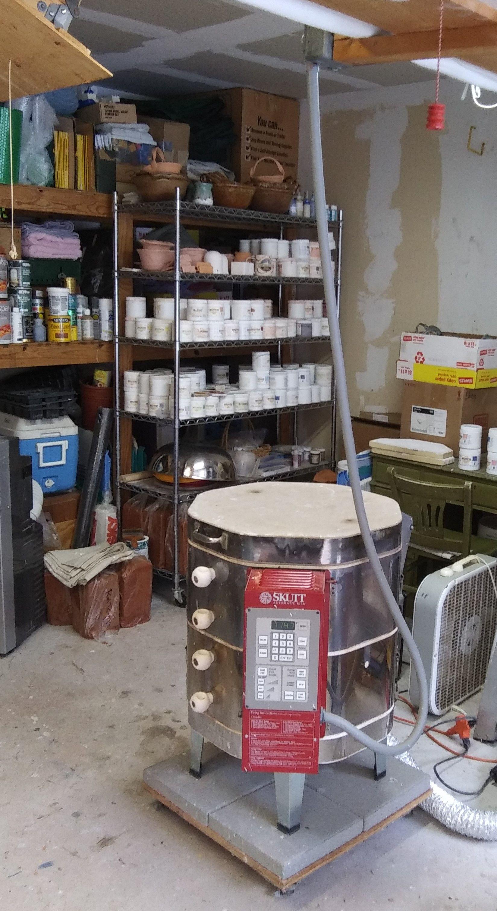 My Kiln In 2020 Wheel Thrown Pottery Dryer Hose Cement Blocks