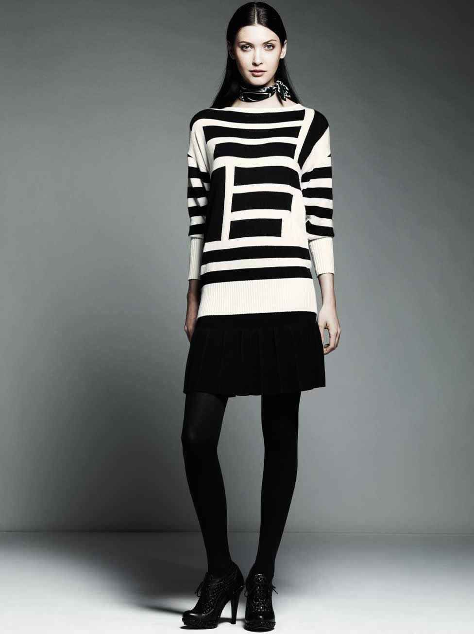 Introducing Catherine Malandrino for DesigNation - love the sweater, though it'd wear it with black skinnies instead.