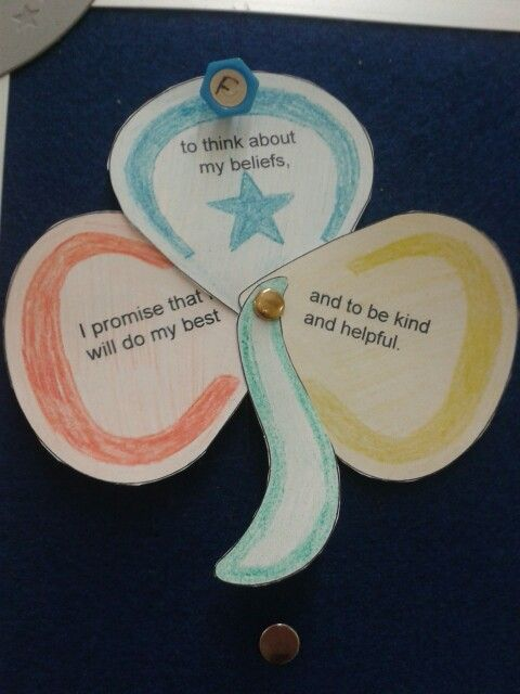 Promise activity pinteres for Arts and crafts for brownies
