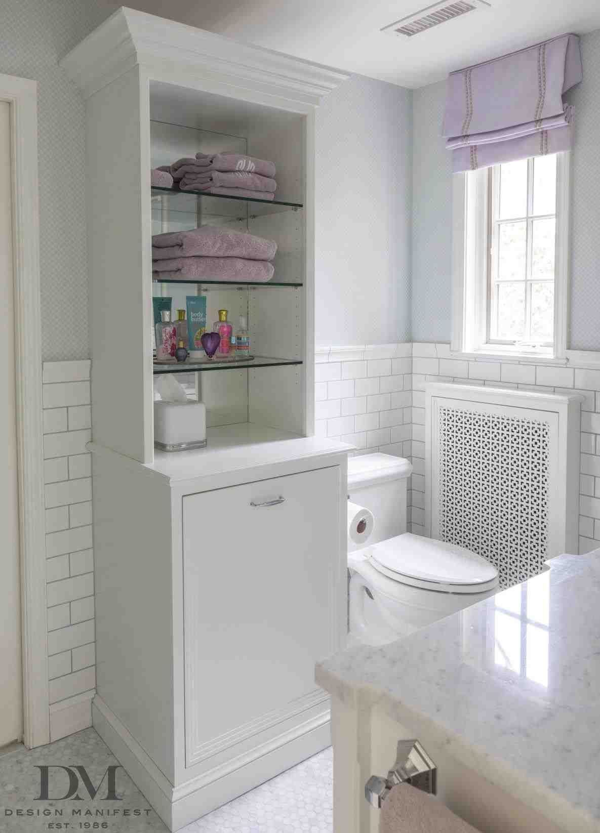 This glass shelves above toilet - towel storage cabinet   free ...