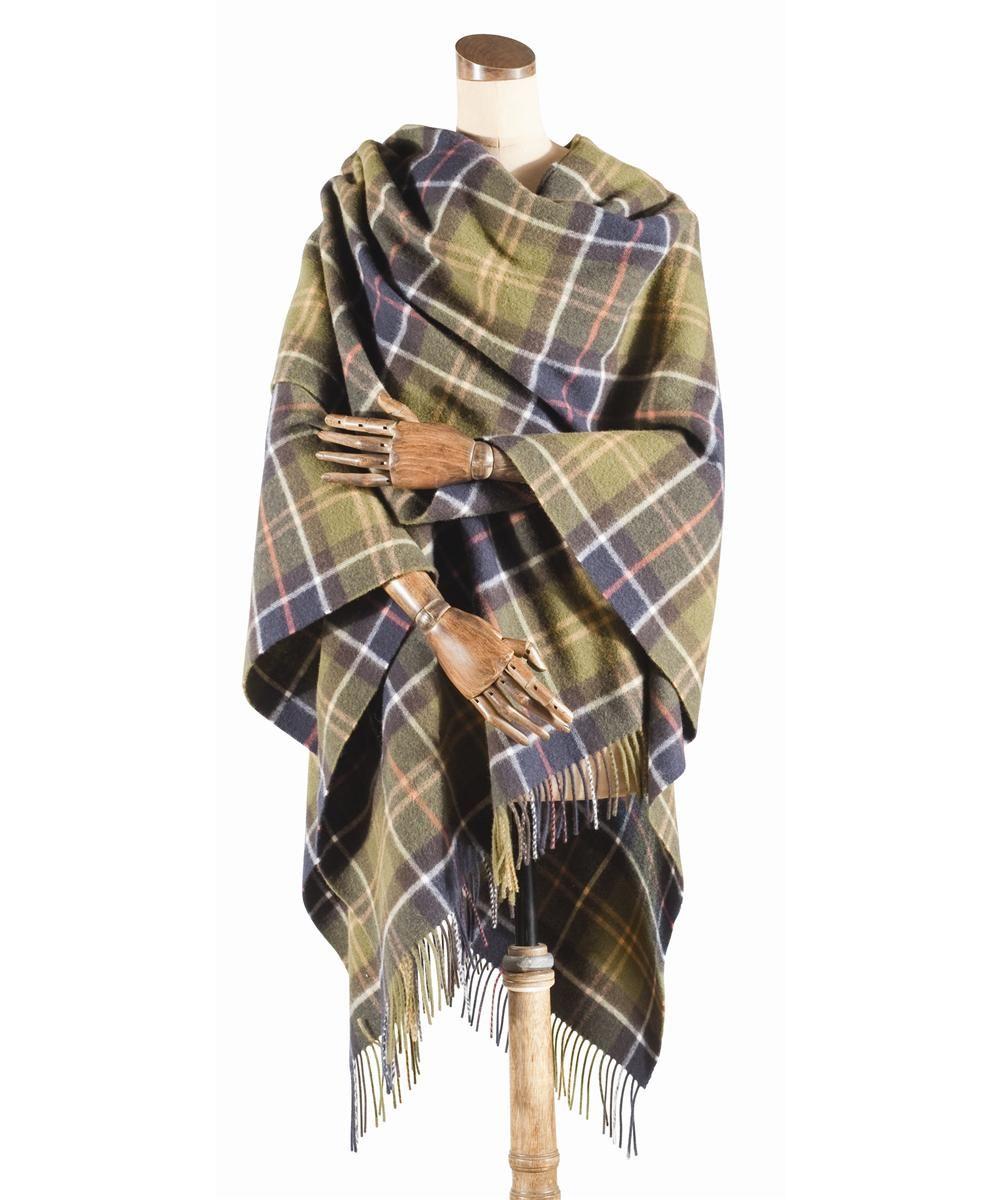 728f38fc5bf398 Barbour Ladies Tartan Lambswool Wrap- Classic Tartan | Fashion ...