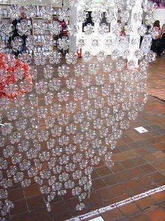 Divisória de garrafa pet