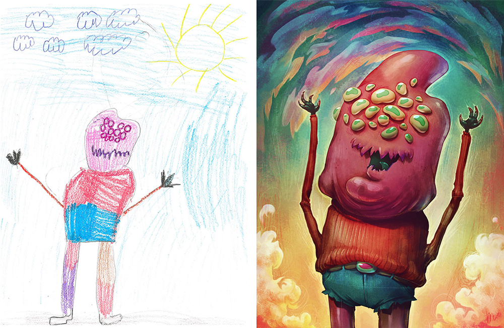 Kids Draw Monsters Artists From All Over The World Recreate Them