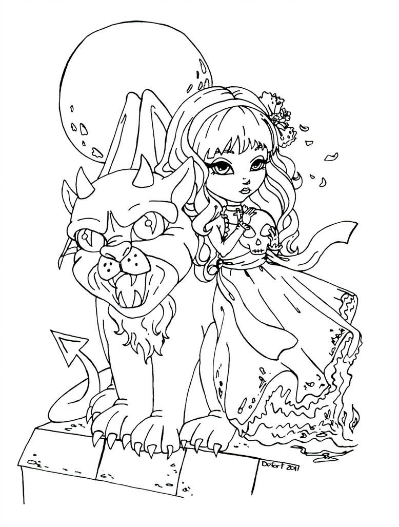 Gargoyle Coloring Pages