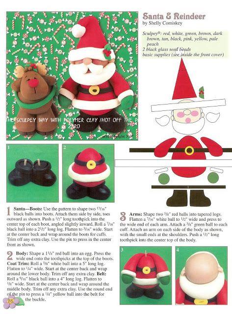 Blog De Manualidades De Todo Navidad De Arcilla Polimérica Arcilla De Navidad Manualidades