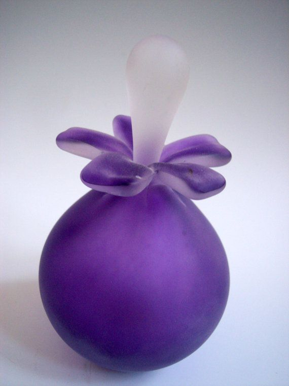 Hand Blown Original Design Sea Orb Flower Perfume Scent Bottle Signed by Artist