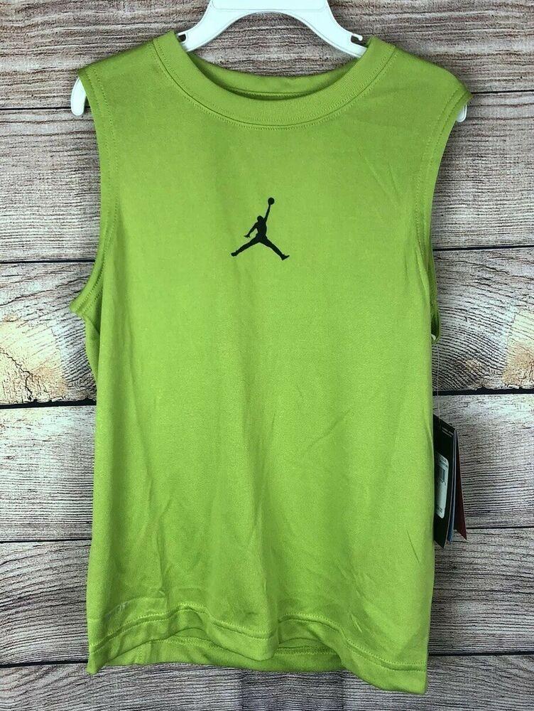 4b52619a4cb9ca Details about Nike Dri Fit Jordan Jumpman Tank Top Boys Size 7 - NWT ...