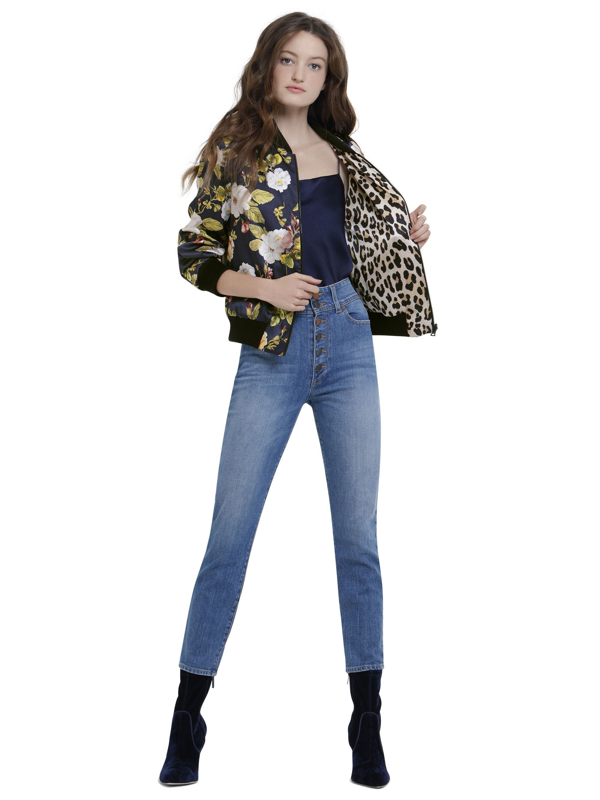 61c27079906d LONNIE REVERSIBLE BOMBER by Alice + Olivia | Style Me | Alice olivia ...