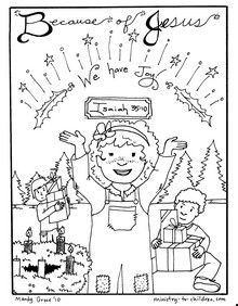 Sheet three of Advent coloring book. Click here to download this ...