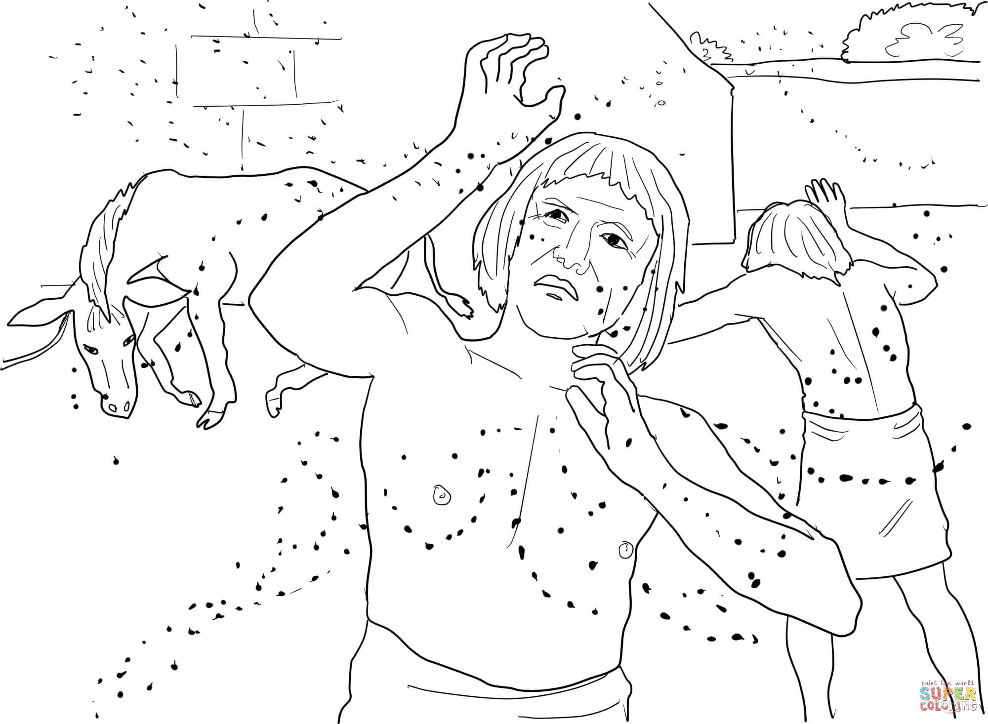 Plague Of Lice Or Gnats Coloring Page