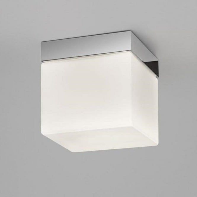 The Small Square Sabina Bathroom Ceiling Light Shown Here Is Fixed Stunning Bathroom Ceiling Light Design Inspiration