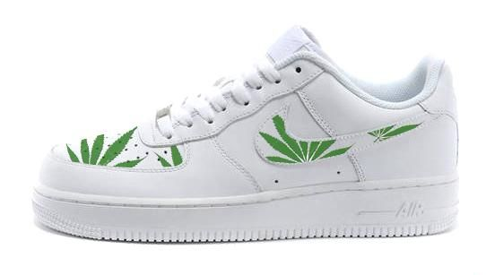 4054948626d2 Bandana Fever Weed Print Custom Nike Air Force Shoes #bandana #fashion  #shopping #style #bandoez