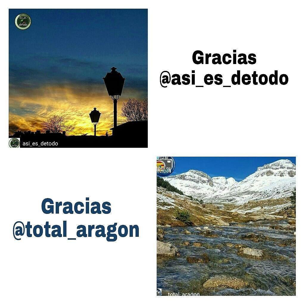 Repost de agradecimiento a la Galería  @asi_es_detodo y su administrador @marisagarlo y a la Galería  @total_aragon_ y su administradora @maitebi3  por contar con algunas de mis fotos!!!!