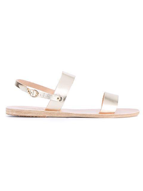 ANCIENT GREEK SANDALS Clio Metallic Leather Sandals. #ancientgreeksandals #shoes #sandals