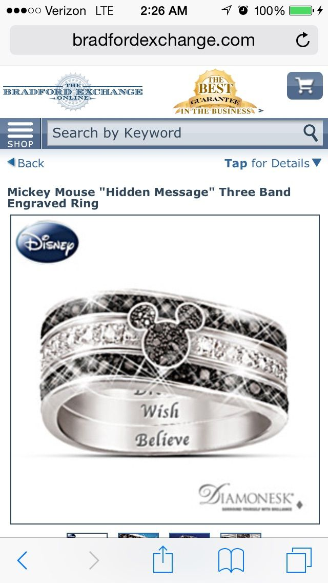 This I love. :-) http://m.bradfordexchange.com/products/112569001_disney-mickey-mouse-ring.html