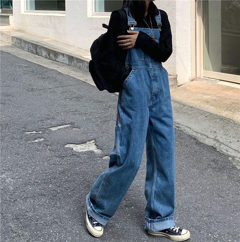 Photo of Buy Alfie Loose-Fit Denim Jumper Pants | YesStyle