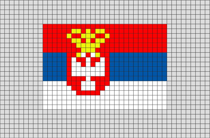 Flag of Serbia (Yugoslavia) Pixel Art | Drapeau serbie, Pixel art, Drapeau
