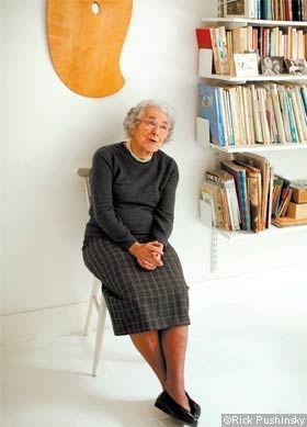 Judith Kerr in her studio