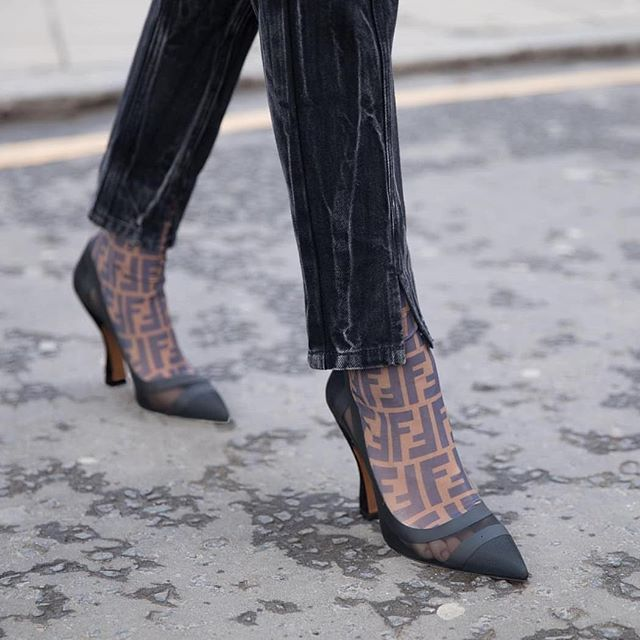 710801033f5e FENDI - LOGO SOCK BOOTS. Stay up to date at designfinderstyling.com