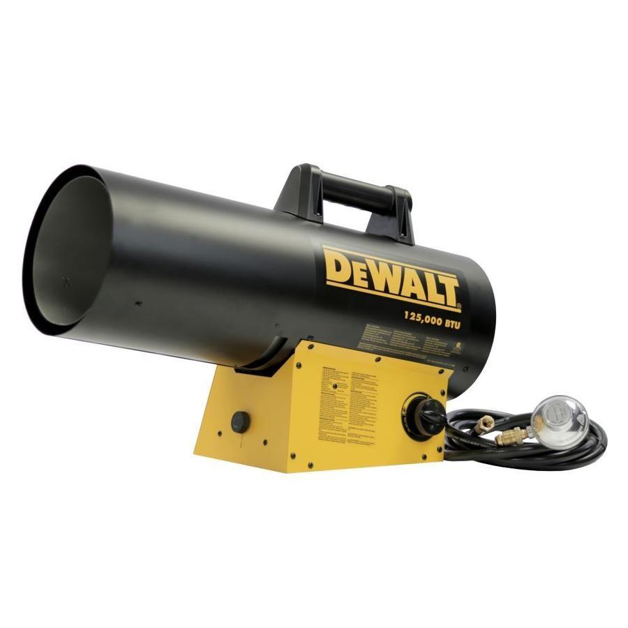 Dewalt 125000 Btu Portable Forced Air Propane Heater Dxh125favhc