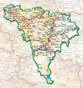 Harta Administrativa A Judetului Alba Hartă