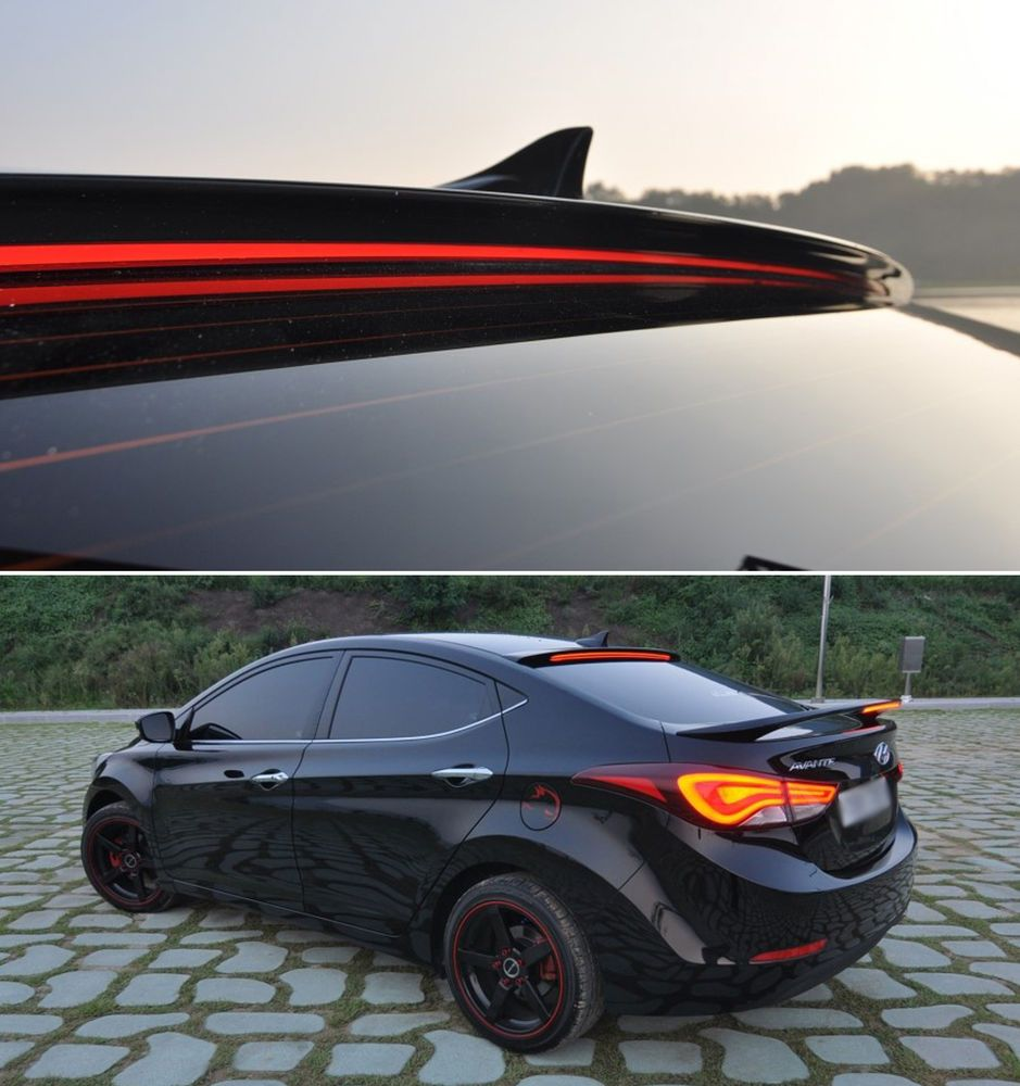 Led Roof Long Surface Emitting Spoiler Nka For 2011 2015 Hyundai Elantra Md Hyundai Elantra Elantra Hyundai