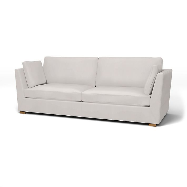 Stockholm Sofa Covers 3 5 Seater Regular Fit Using The Fabric Simply Cotton Silver Grey Sofa Covers Sofa Ikea Stockholm