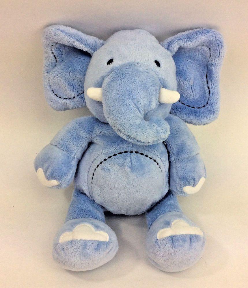 Koala Baby Plush Blue Elephant Stitched Circle Tummy Stuffed Animal Soft Toy 12 Koalababy Soft Toy Animals Baby Plush Baby Elephant