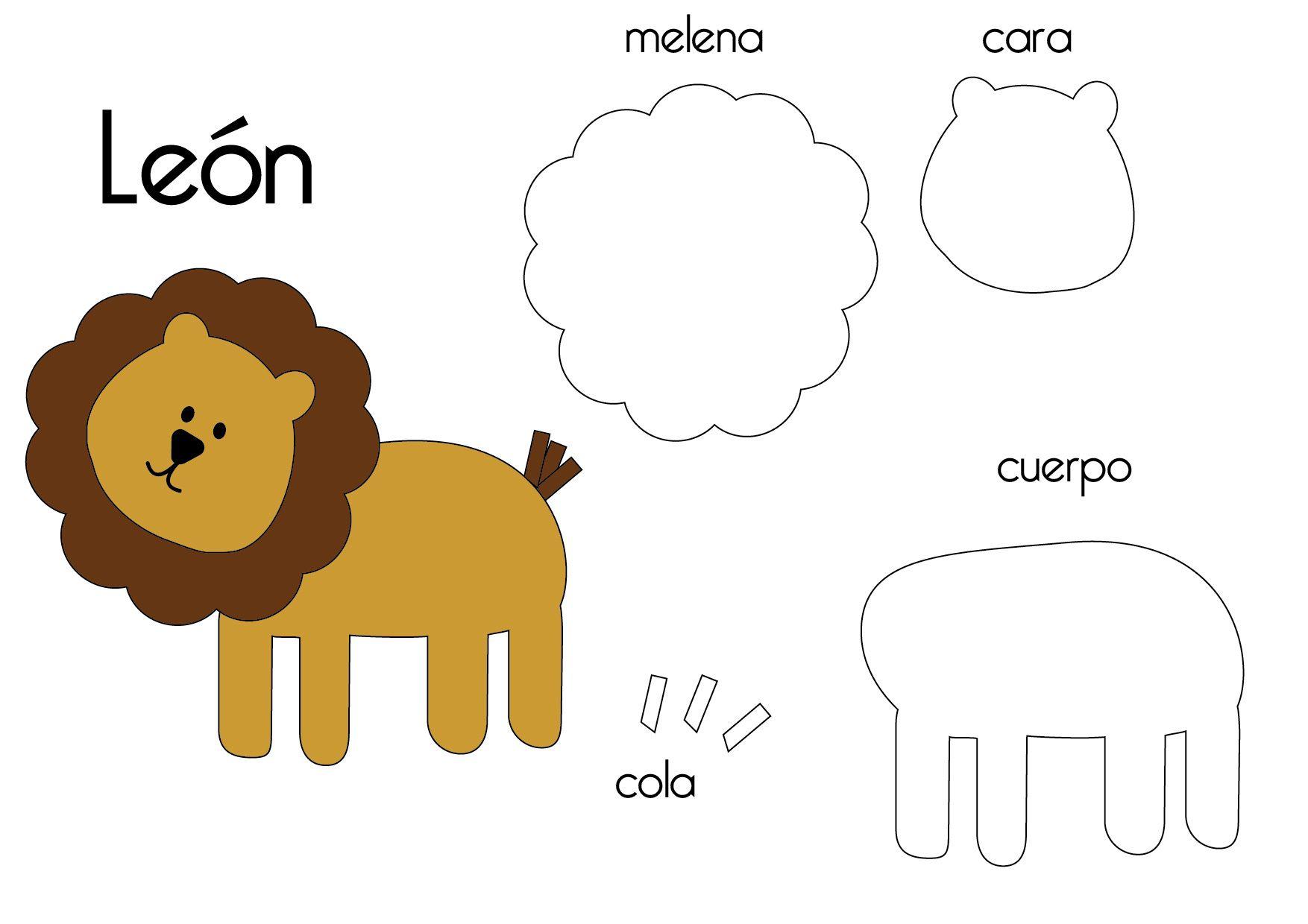 felt lion template google search boys pinterest felt animals