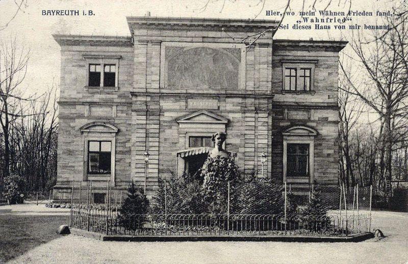 Villa Wahnfried in Bayreuth, historische opname (mit