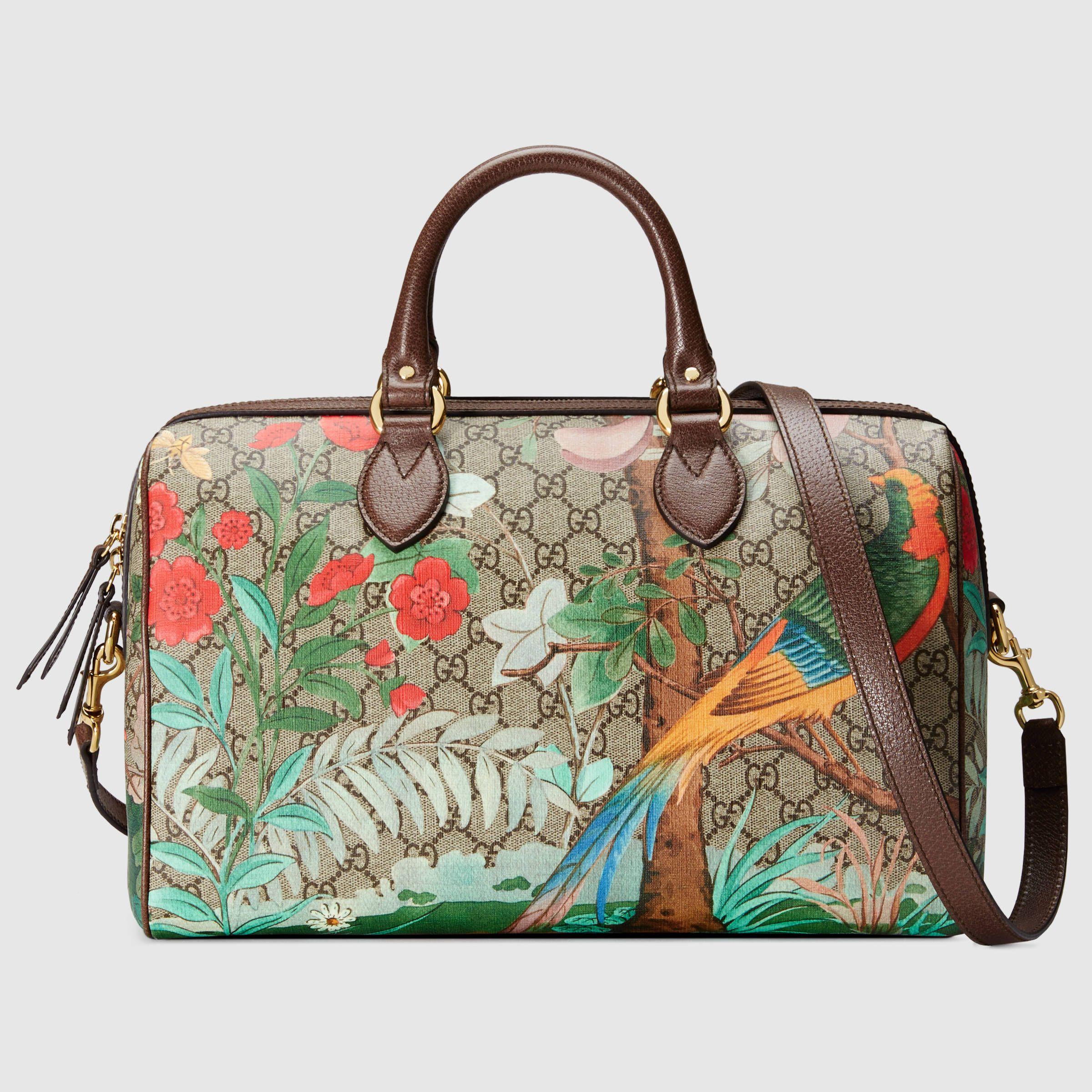 bac4915f6068 Gucci Women - Gucci Tian GG Supreme boston bag - 409527K0L2G8689 ...