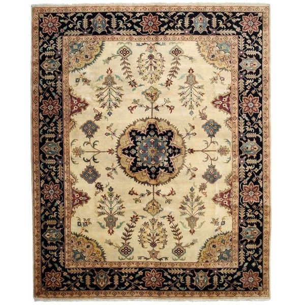 Serapi Collection Rug, 8'3 x 10'1, One of a Kind (20.900 BRL) ❤ liked on Polyvore featuring home, rugs, fillers, decoration, bloomingdales rugs, weave rug, serapi rug, woven rug and woven area rugs