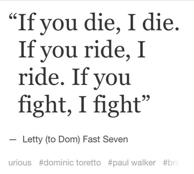 Letty To Dom- Furious 7