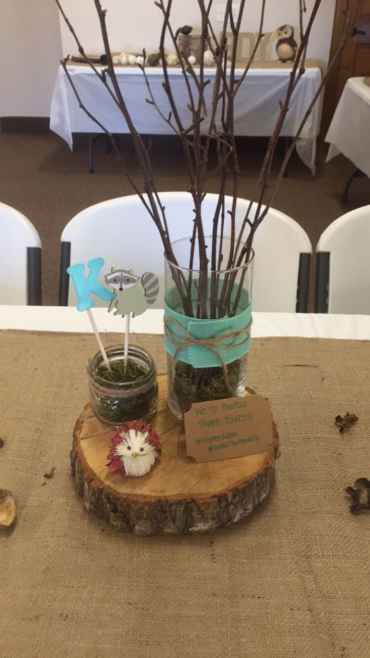 Woodland Theme Centerpieces Baby Shower Ideas Prints Baby