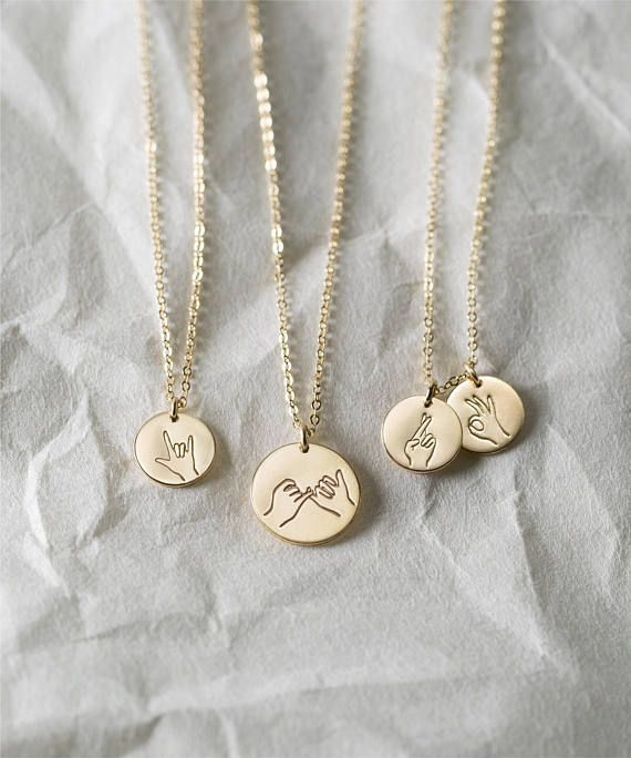 Hand Gestures Necklace - Sister, Daughter, Best Friends Necklaces - Fun Gift Ideas for Awesome Ladies - LN209, LN213