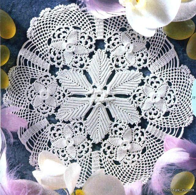 christmas crafts: crocheted poisettia tablecloth, free crochet ...