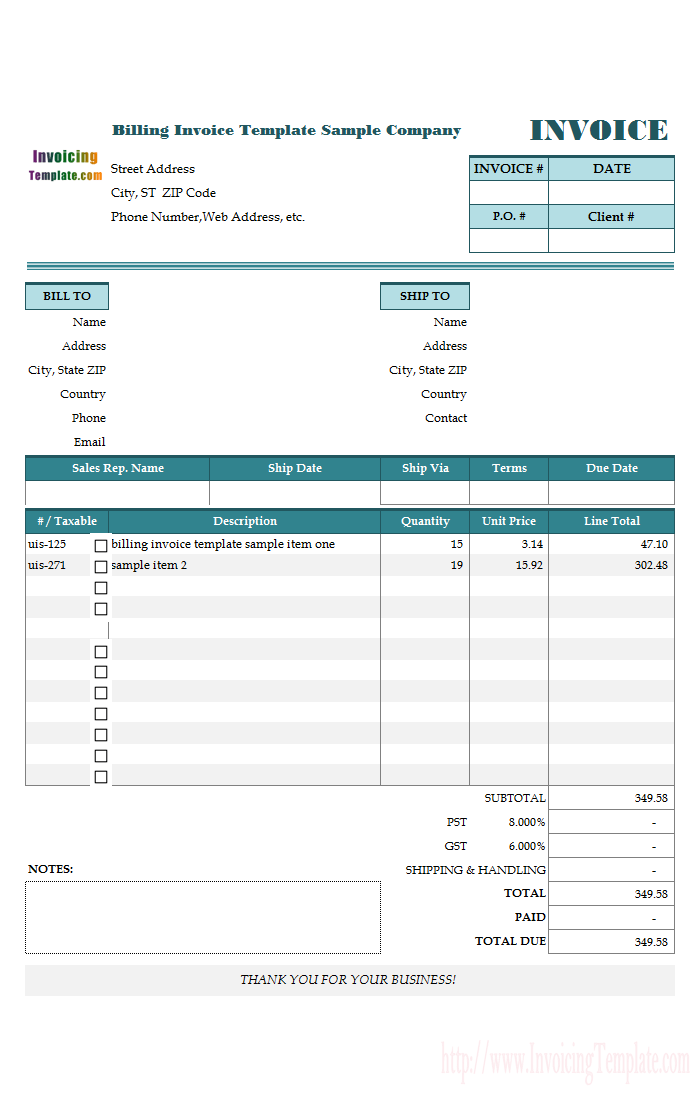 United Arab Emirates Invoice Template  Jignesh